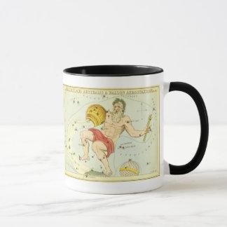 Vintage Zodiac, Astrology Aquarius Constellation Mug
