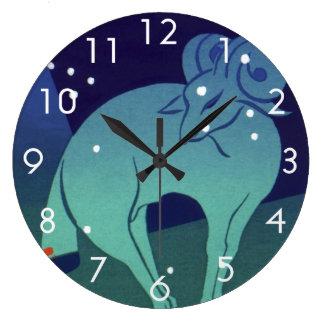 Vintage Zodiac, Astrology Aries Ram Constellation Large Clock