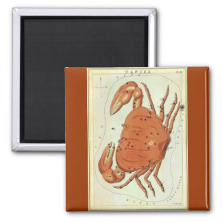 Vintage Zodiac Astrology Cancer Crab Constellation Magnet