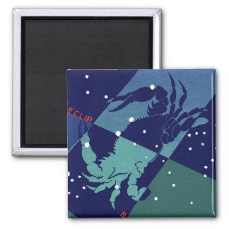 Vintage Zodiac Astrology Cancer Crab Constellation Fridge Magnet