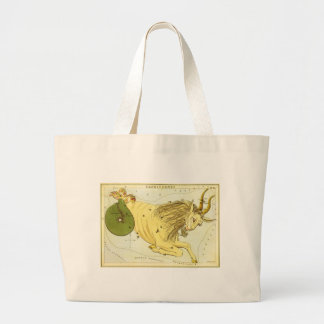Vintage Zodiac, Astrology Capricorn Constellation Canvas Bag