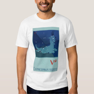Vintage Zodiac, Astrology Capricorn Constellation T Shirt