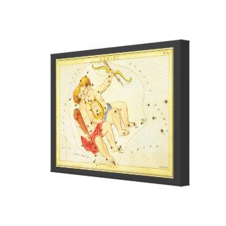 Vintage Zodiac Astrology Gemini Twin Constellation Canvas Print