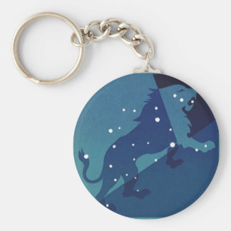 Vintage Zodiac Astrology Leo Lion Constellation Key Chains