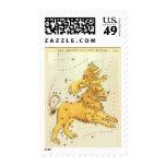 Vintage Zodiac, Astrology Leo Lion Constellation Postage