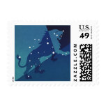Vintage Zodiac Astrology Leo Lion Constellation Postage Stamp
