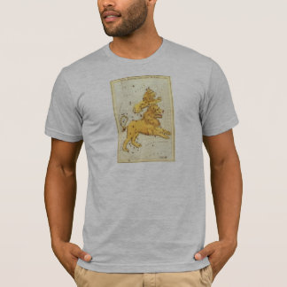 Vintage Zodiac, Astrology Leo Lion Constellation T-Shirt