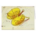 Vintage Zodiac Astrology Libra Scale Constellation Card