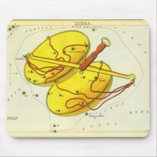 Vintage Zodiac Astrology Libra Scale Constellation Mouse Pad
