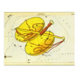 Vintage Zodiac Astrology Libra Scale Constellation Postcard