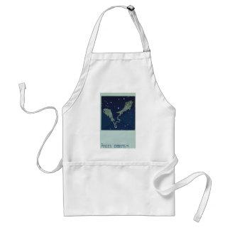 Vintage Zodiac Astrology Pisces Fish Constellation Adult Apron
