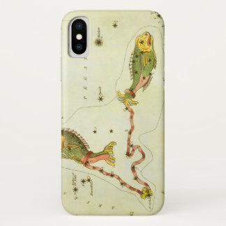 Vintage Zodiac Astrology Pisces Fish Constellation iPhone X Case