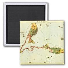 Vintage Zodiac Astrology Pisces Fish Constellation Magnet at Zazzle