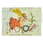 Vintage Zodiac Astrology Sagittarius Constellation Card