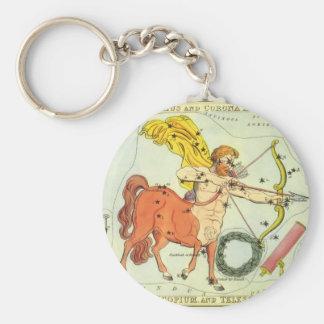 Vintage Zodiac Astrology Sagittarius Constellation Key Chain