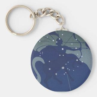 Vintage Zodiac Astrology Sagittarius Constellation Keychains