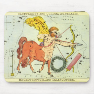 Vintage Zodiac Astrology Sagittarius Constellation Mouse Pad
