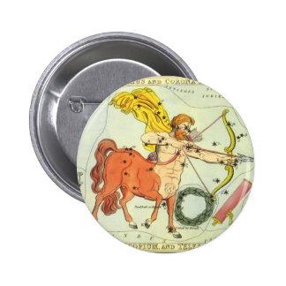 Vintage Zodiac Astrology Sagittarius Constellation Pinback Button