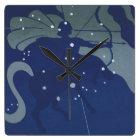 Vintage Zodiac Astrology Sagittarius Constellation Square Wall Clock