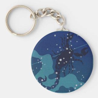 Vintage Zodiac, Astrology, Scorpio Constellation Key Chain