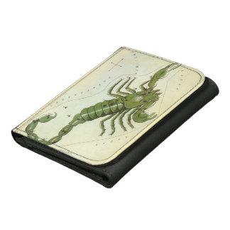Vintage Zodiac, Astrology Scorpio Constellation Tri-fold Wallet