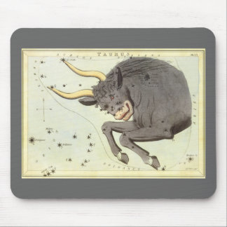 Vintage Zodiac Astrology Taurus Bull Constellation Mouse Pad