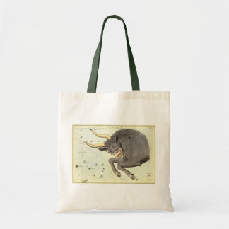 Vintage Zodiac Astrology Taurus Bull Constellation Tote Bag