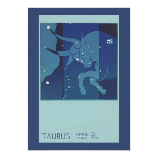 Vintage Zodiac Astrology, Taurus Constellation Card