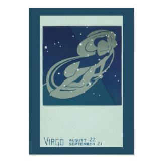 "Vintage Zodiac, Astrology, Virgo Constellation 5"" X 7"" Invitation Card"