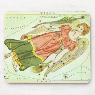 Vintage Zodiac Astrology Virgo Constellation Mouse Pad