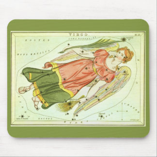 Vintage Zodiac Astrology Virgo Constellation Mouse Pad