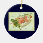 Vintage Zodiac Astrology Virgo Constellation Ornament
