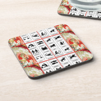 VINTAGE ZODIAC SIGNS WITH ANGELS SET OF 6 COASTER