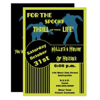 Vintage Zombie Apocalypse Poster Style Halloween Card