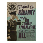 Vintage Zombie Apocalypse Recruitment Poster