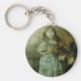 Vintage Zombie Girl Keychain