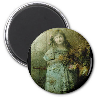 Vintage Zombie Girl Magnet