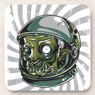 vintage zombie scary face coaster