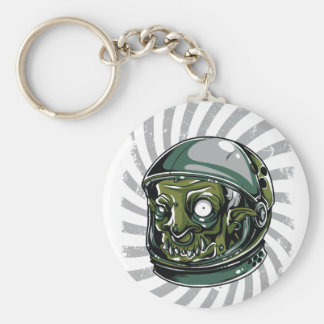 vintage zombie scary face keychain