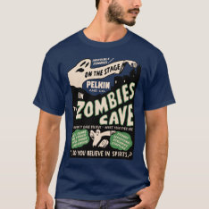Vintage Zombie's Cave Spook Show T-shirt at Zazzle