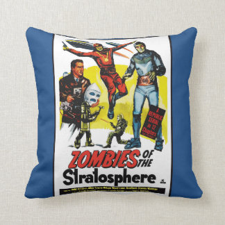 Vintage Zombies of the Stratosphere Movie Pillow