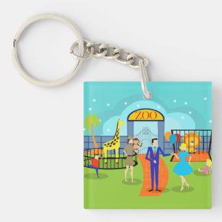 Vintage Zoo Acrylic Keychain