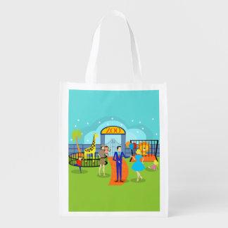 Vintage Zoo Reusable Grocery Bag