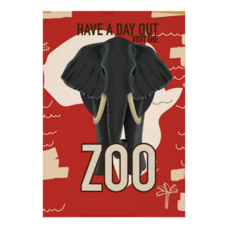 vintage Zoo travel poster
