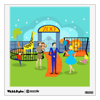 Vintage Zoo Wall Decal