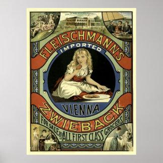 Vintage Zwieback Advertisement Poster