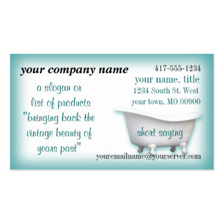 VintageBathtub Business Card2-customize-choices Business Card