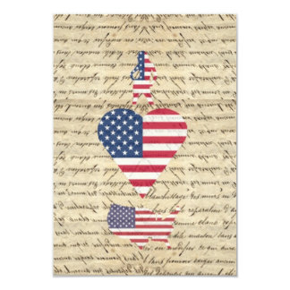 VintageI heart America 3.5x5 Paper Invitation Card