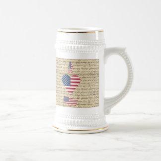 VintageI heart America Beer Stein