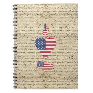 VintageI heart America Note Books